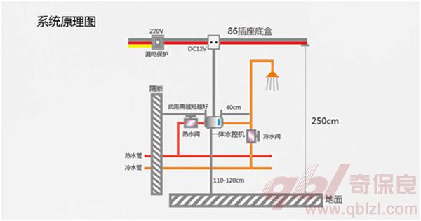 空气能热水器系统原理图